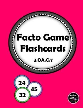 FACTO Flashcards & Game Board  3.OA.C.7