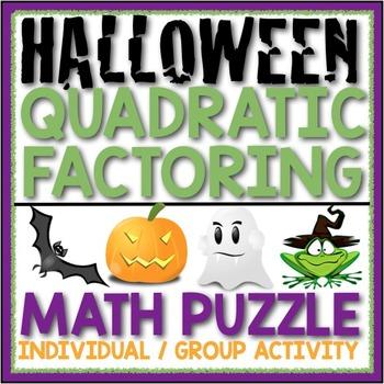FACTORING QUADRATICS HALLOWEEN ACTIVITY