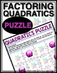 FACTORING QUADRATICS PUZZLE