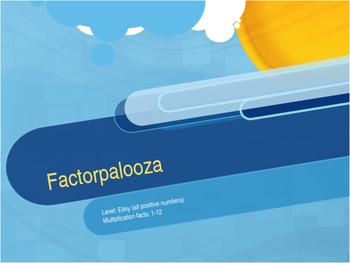 Factorpalooza       Level: Easy #2
