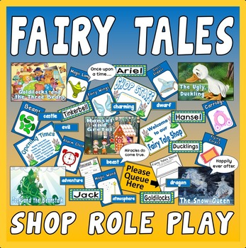 FAIRY TALES SHOP ROLE PLAY TEACHING RESOURCES EYFS KS1-2 E