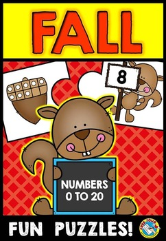 FALL MATH ACTIVITIES: FALL TEN FRAMES PUZZLES (NUMBERS 0-2
