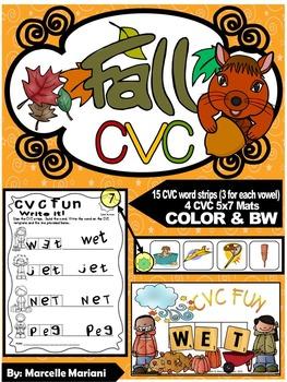FALL-AUTUMN- CVC Center Activity- Build it, Stamp it, Writ