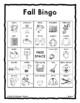 FALL AUTUMN Vocabulary BINGO Make & Take, SPEECH THERAPY