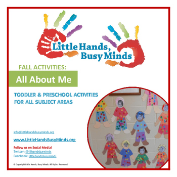 FALL Activities: FREE All About Me Weekly Thematic Unit fo