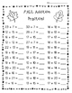 FALL Addition Practice Worksheet Pack - 3 Leveled Sheets f