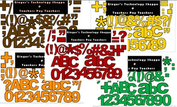 FALL BUNDLE! * Bulletin Board Letters * Punc * Numbers * S