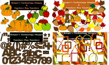 COMPLETE FALL BUNDLE! Clipart & Characters! Alphabet, Numb