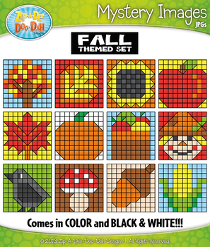FALL Create Your Own Mystery Images Clipart Set
