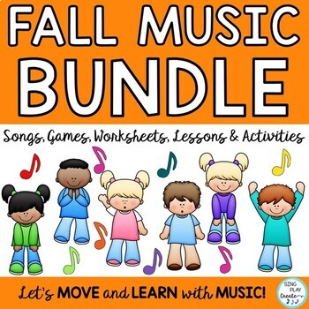 Fall Music Class Monthly Bundle of Kodaly and Orff Lessons