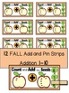 FALL- MATH CENTER- Add and Pin (1-10 and 10's &1's) Color+