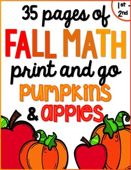 Fall/ Autumn Math for K & 1 {Number Sense, Place Value, Ad