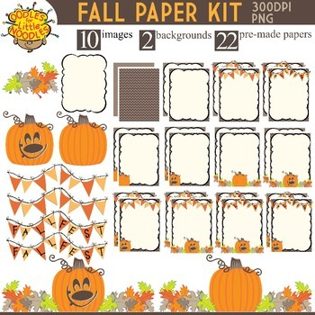 FALL PAPER THEME KIT