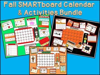 SMARTboard Calendar & Activities BUNDLE 1A September Octob