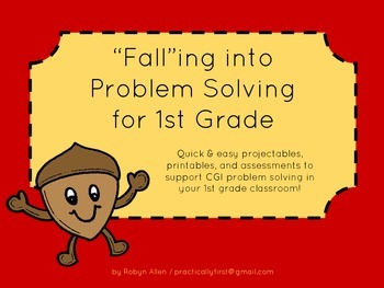 """""""FALL""""ing into Problem Solving for 1st Grade"""