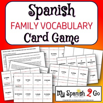 FAMILY:  A Card Game with Family Vocabulary in Spanish