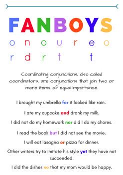 FANBOYS Grammar Poster