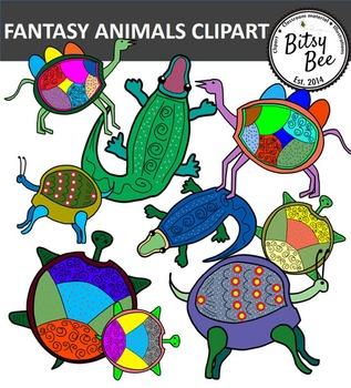 FREEBIE FANTASY ANIMALS CLIP ART.