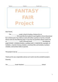 FANTASY FAIR PROJECT/THEME PROJECT