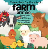 FARM ANIMALS Math and Literacy Centers for Preschool and Pre-K