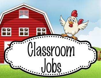 FARM - Classroom Helpers JOBS clip chart