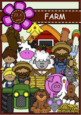 FARM Digital Clipart (color and black&white)