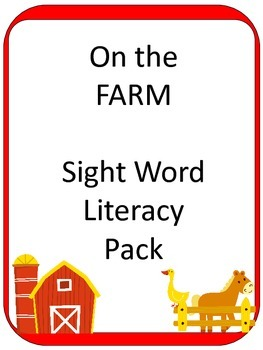 FARM Sight Word ELA CENTER Games