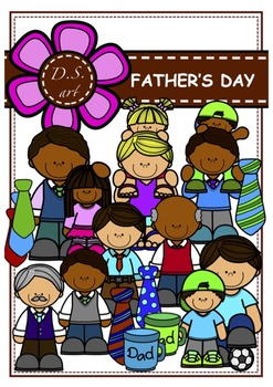 FATHER'S DAY Digital Clipart (color and black&white)