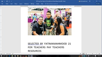 FATIMAMAHMOOD21  FREE   HELP FOR  SPECIAL  CHILDREN  PARENTS
