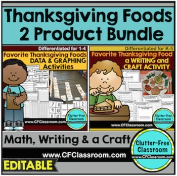 THANKSGIVING BUNDLE Math & Writing FAVORITE THANKSGIVING FOOD