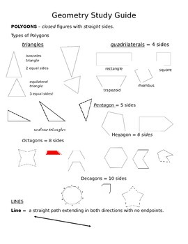 FCAT Study Guide (Geometry)