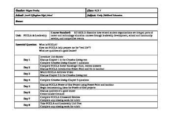 FCCLA Unit Lesson Plans