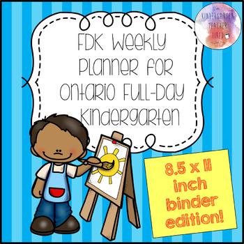 Ontario FDK Weekly Planner (Binder Size!)