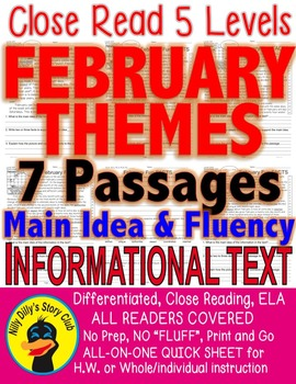 FEBRUARY 7 passages 5 levels each Differentiated President