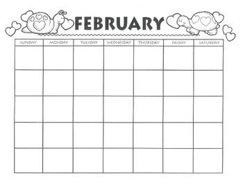 FEBRUARY CALENDAR - Free Download