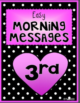 Morning Messages - 3rd