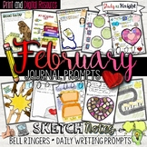 FEBRUARY JOURNAL PROMPTS, BELL RINGERS, VALENTINE'S DAY, B