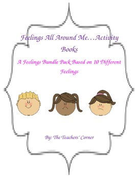Feelings All Around Me! Activity Books Bundle Pack