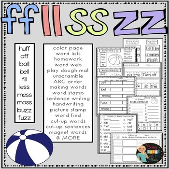 FF, LL, SS and ZZ Hands-on Spelling and Phonics