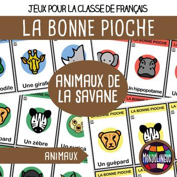 French/FFL/FSL - Games - Go Fish - Animals in Africa