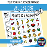 French/FFL/FSL - Games - Dice game - Fruit and vegetables