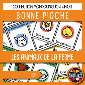 French/FFL/FSL - Card Game - Go Fish - Animaux de la ferme