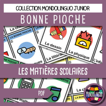 French/FFL/FSL - Card Game - Go Fish - Matières/School subjects