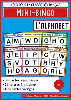 French/FFL/FSL - Games - Mini bingo - The alphabet