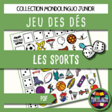 Dice game to teach French/FFL/FSL: Sport