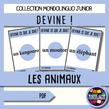 French/FFL/FSL - Game - Guess what I'm doing! Animals