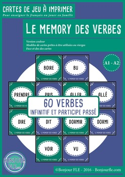 FFL-FSL - Games to teach French - Memory - french verbs