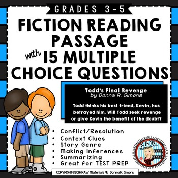 FICTION STORY - 15 QUESTIONS - CLOSELY ALIGNED WITH STATE TEST