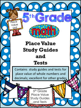 FIFTH GRADE COMMON CORE MATH NBT1 and NBT2-Place Value/Review