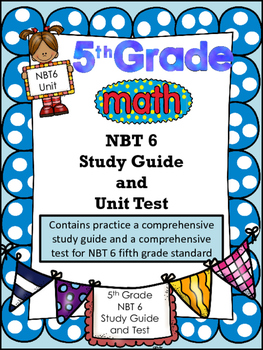FIFTH GRADE COMMON CORE MATH NBT6-Division/Divisibility/Or